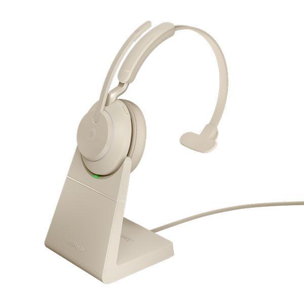 Tai nghe Jabra Evolve2 65 USB-C UC Mono có đế sạc