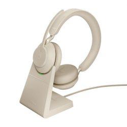 Tai nghe Jabra Evolve2 65 USB-A UC Stereo có đế sạc